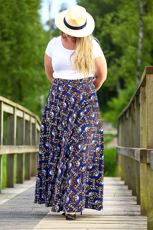 Fancy maxi wrap skirt