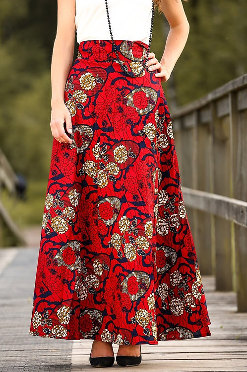 Fancy-maxi wrap skirt