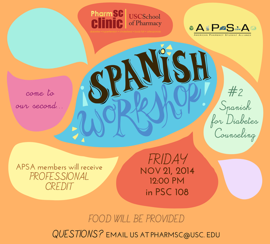 Come to our 2nd Spanish Workshop!