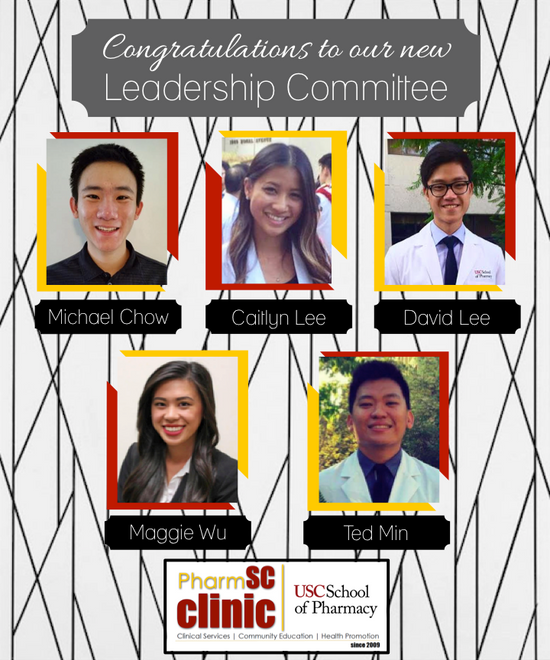 Join us in Congratulating our Leadership Committee for 2015-2016