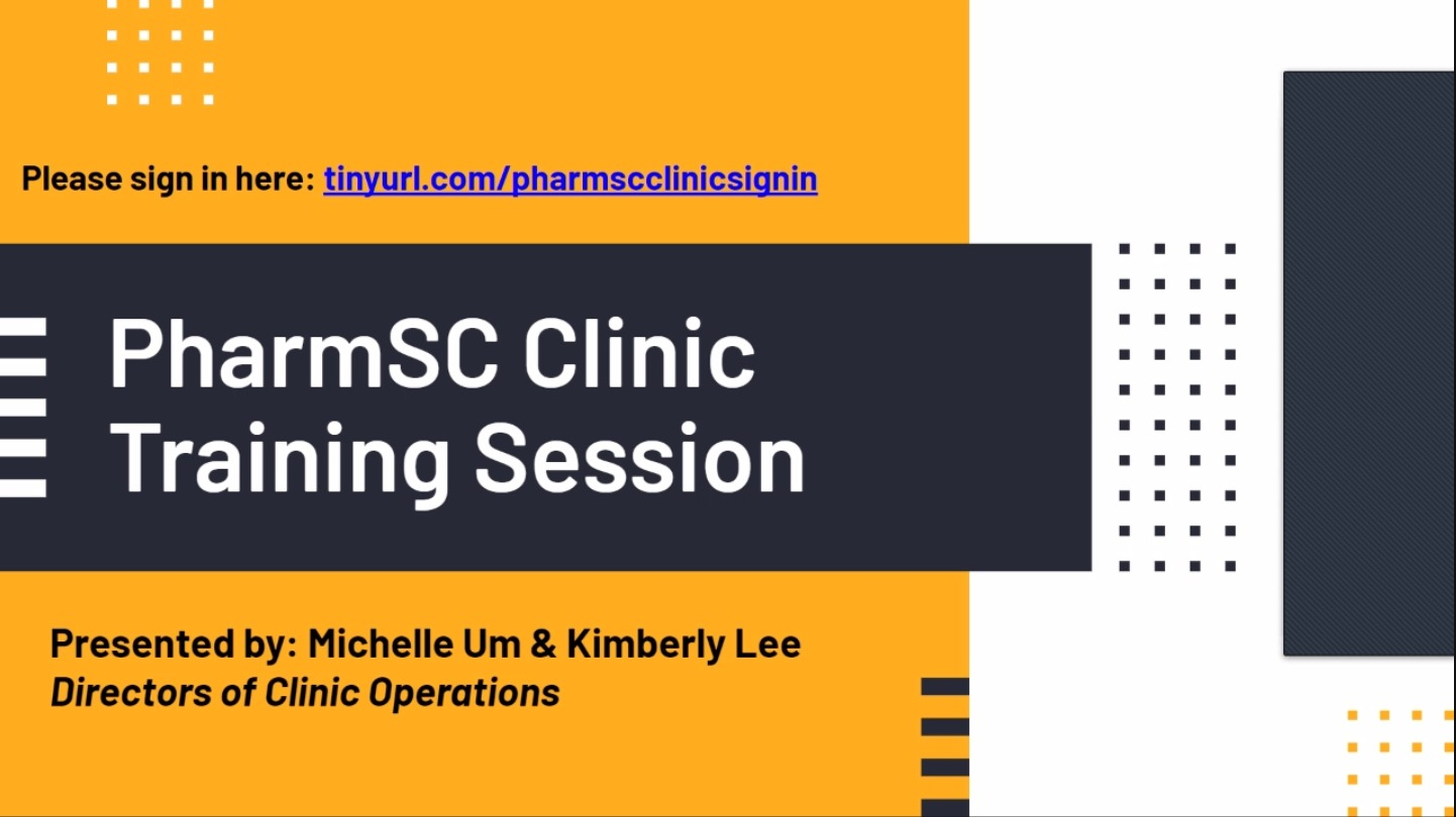 Spring 2021 Clinic Training Session