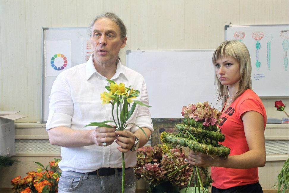 Занятие по флористике в Липецке