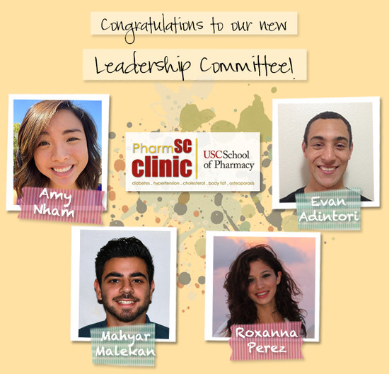 Congratulations to our 2014-15 Leadership Committee!