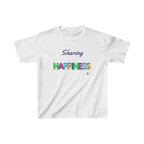 Sharing Happiness, Kids Heavy Cotton™ Tee