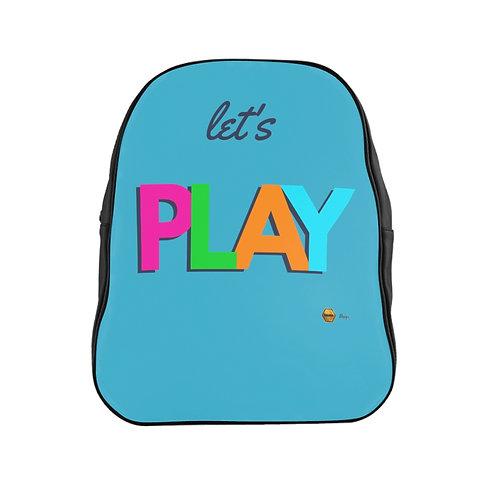 School Backpack, Let's PLAY