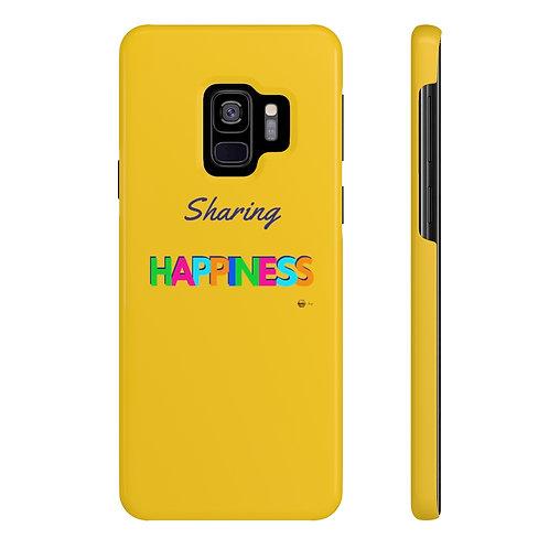 Mate Slim Phone Case, Sharing HAPPINESS