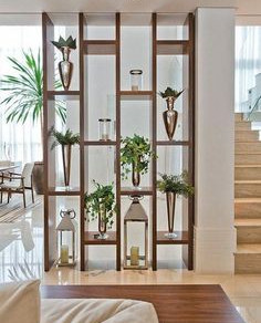 Beautiful and practical ideas for wooden partitions.