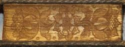 Grøn silke m. sølvtåde omkr. 1678