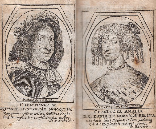 Chr. V & Charlotte Amalie 1674