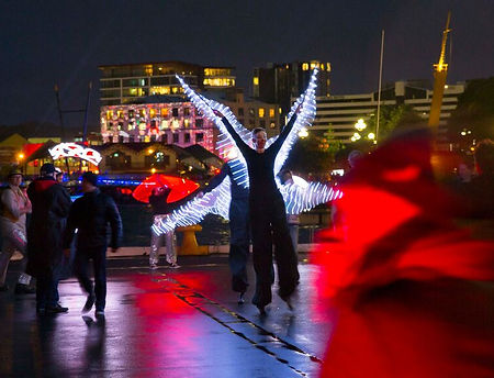 LED Butterfly Stilt Walkers