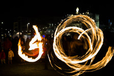 Circus of fire show