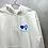 Thumbnail: White Hoodie with Symbols in Blue