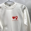 Thumbnail: White Sweatshirt with Symbols in Red