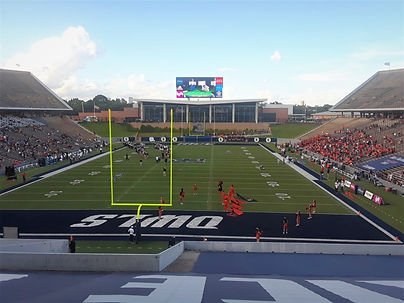 Rice University Stadium with Key Installations field goals