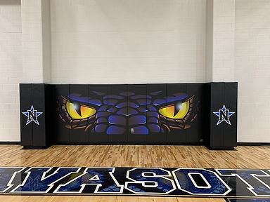 Navasota, Texas High School gym padding