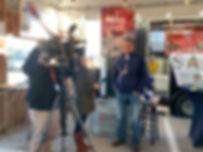 Ambassador Clint Burges with KFDM 6 TV