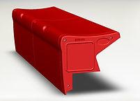 Key Rec - Red bleacher seating
