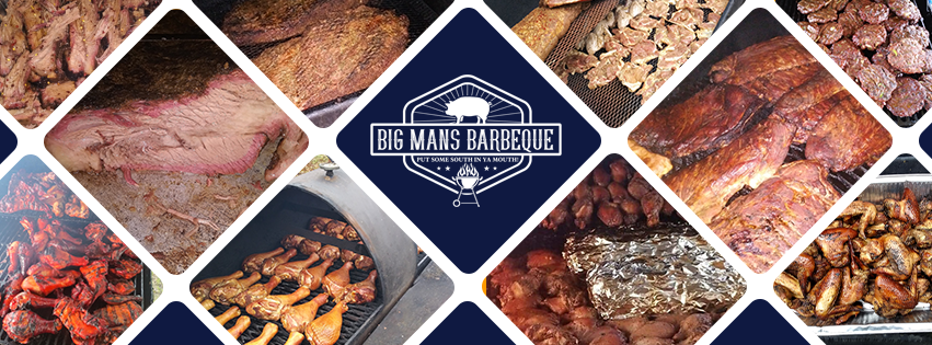 Big Mans Barbeque Facebook cover photo by Bird Dog Development