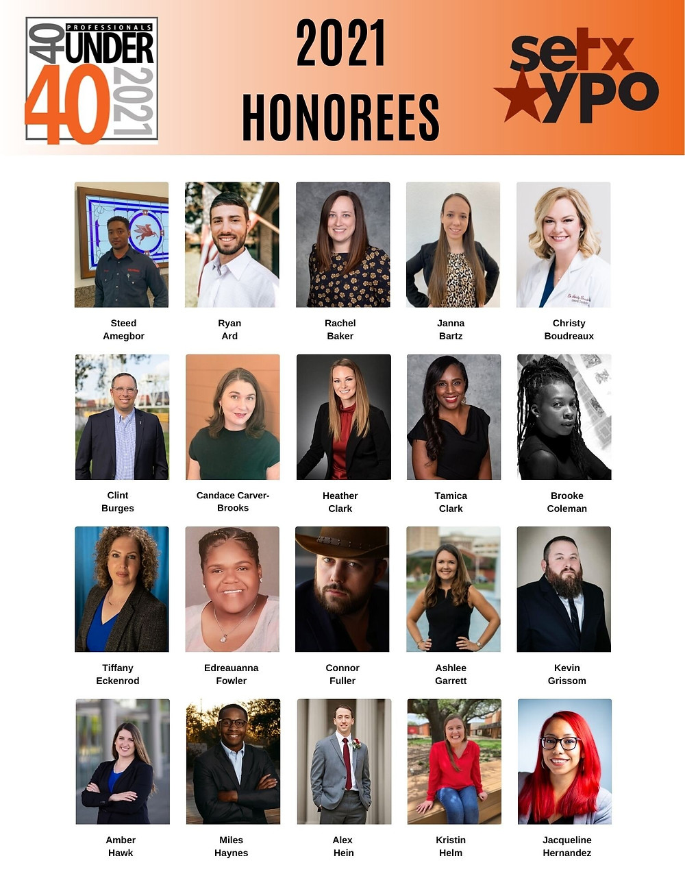 Southeast Texas Young Professionals 40 under 40