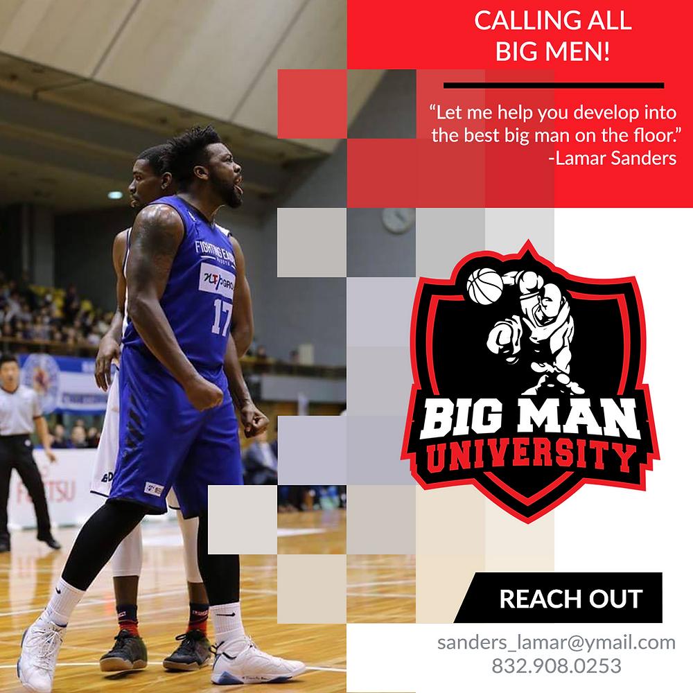 Big Man University social media flyer by Bird Dog Development