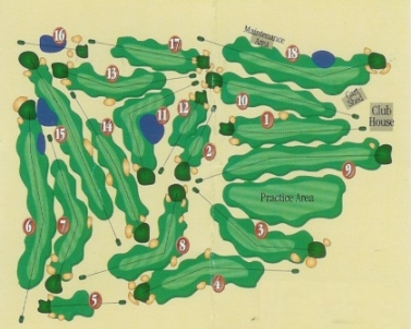 Greens of Greenville course map