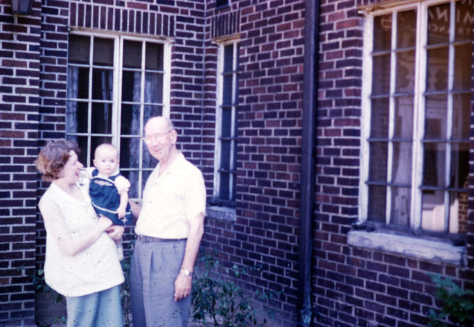 Coletta, Pregnant Mom, Granpa Fred