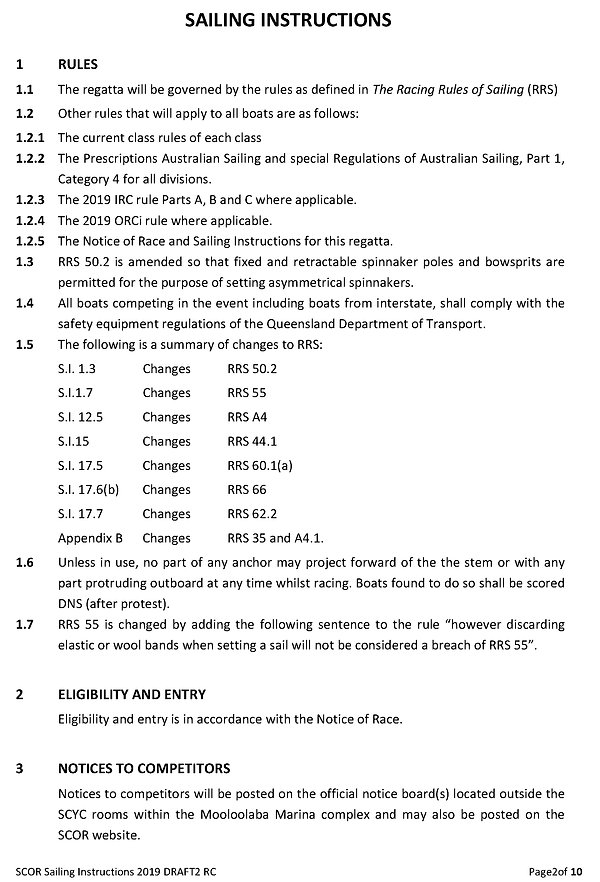 SCOR 2019_2 Sailing Instructions 13&14Ju