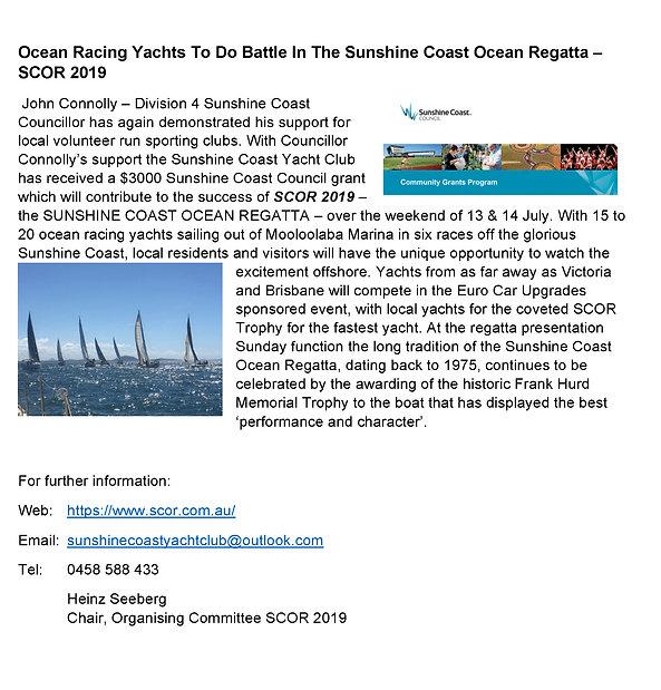 Sunshine Coast Ocean Regatta 2019 Media