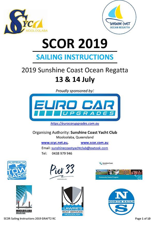 SCOR 2019 Sailing Instructions 13&14July