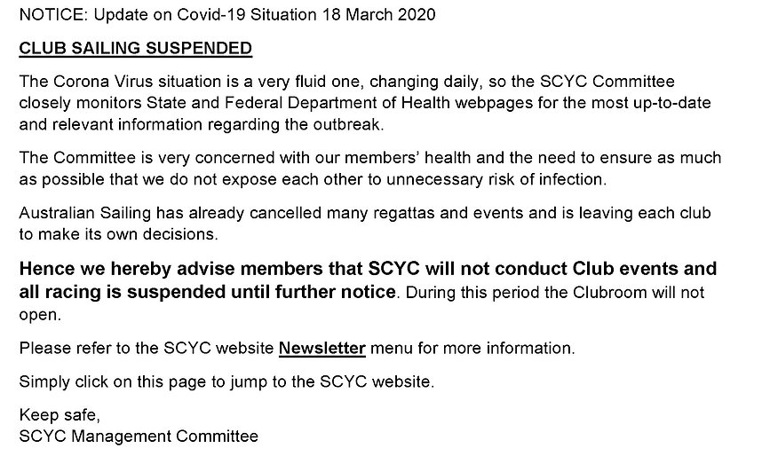 SCOR NOTICE- Update on Covid-19 Situatio