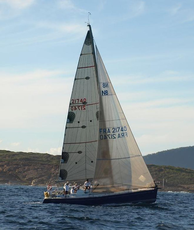 Will you get past this beautiful Beneteau First 40 7- Novocaine?