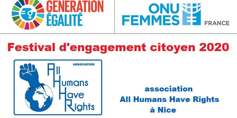 Festival GÉNÉRATION ÉGALITÉ  par All Humans Have Rights avec ONU Femmes