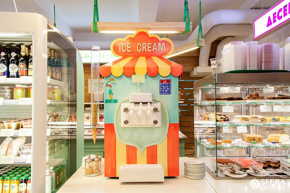 Роспись аппарата для изготовления мороженного