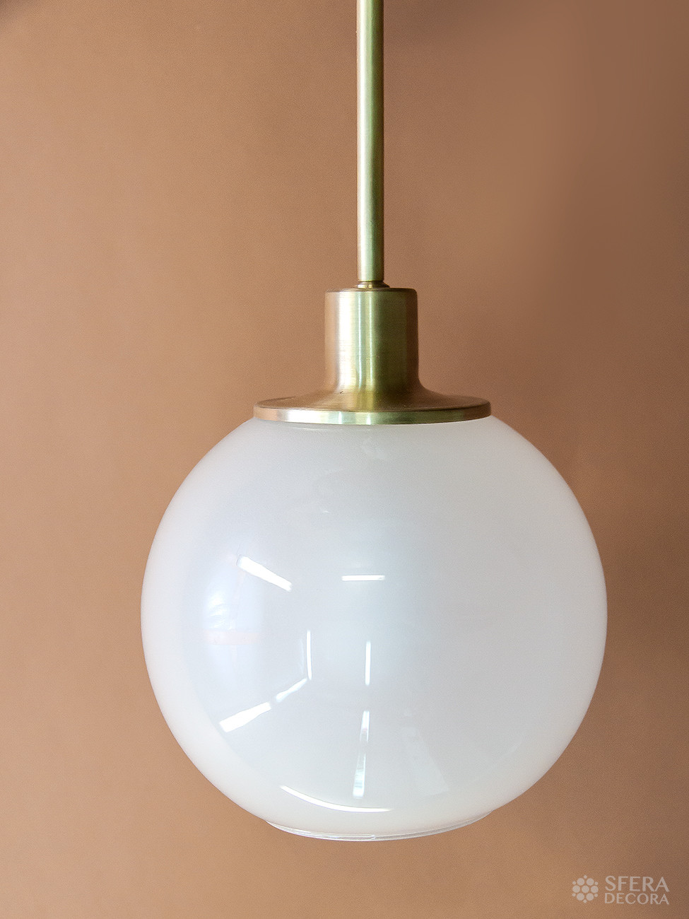 Светильник лофт из латуни и стекла