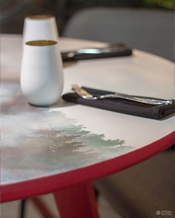 Дизайнерские столы или роспись мебели - детали, которые работают!