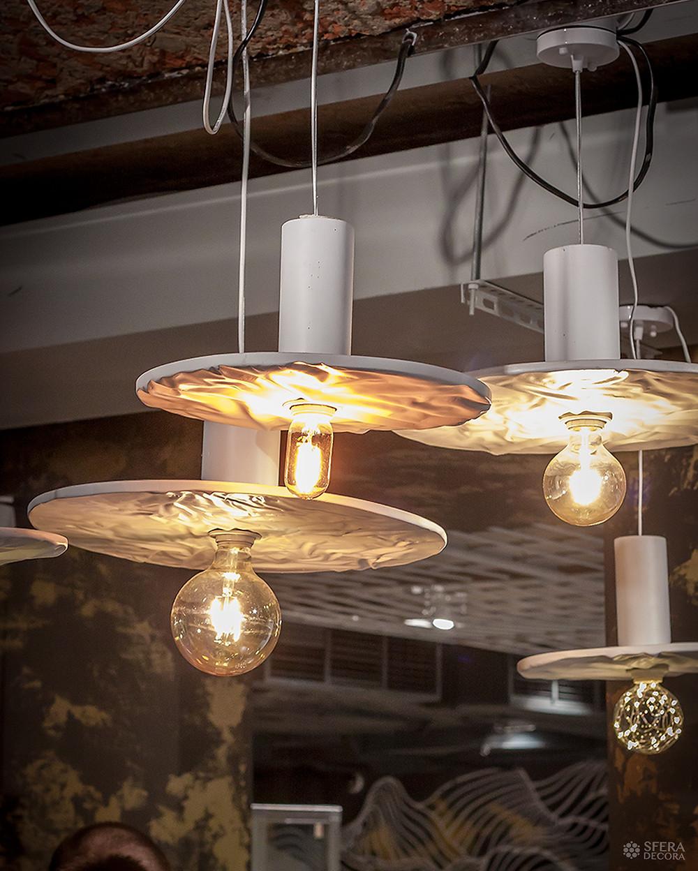 Мятые светильники на заказ