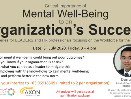 Mental Well-Being to an Organization's Success