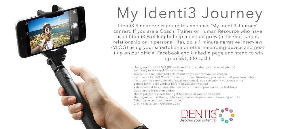 My Identi3 journey! Share and win S$1,000!