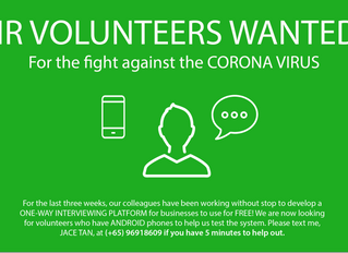 HR Volunteers Wanted - For the fight against the Corona Virus