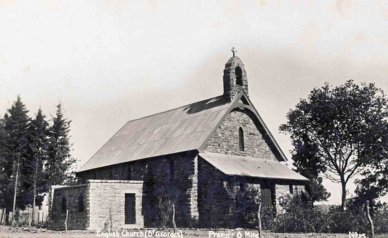 The Anglican church in Cullinan, designed by herbert baker.