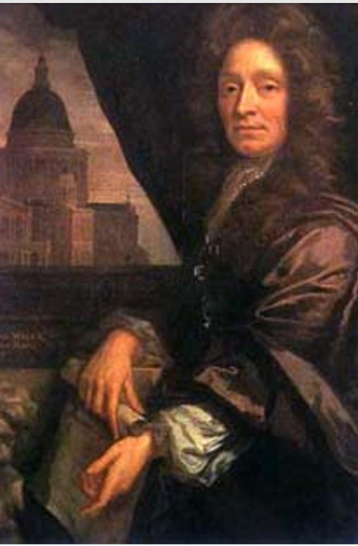"""""""CRISTOPHER  WREN"""", (1632-1723)."""