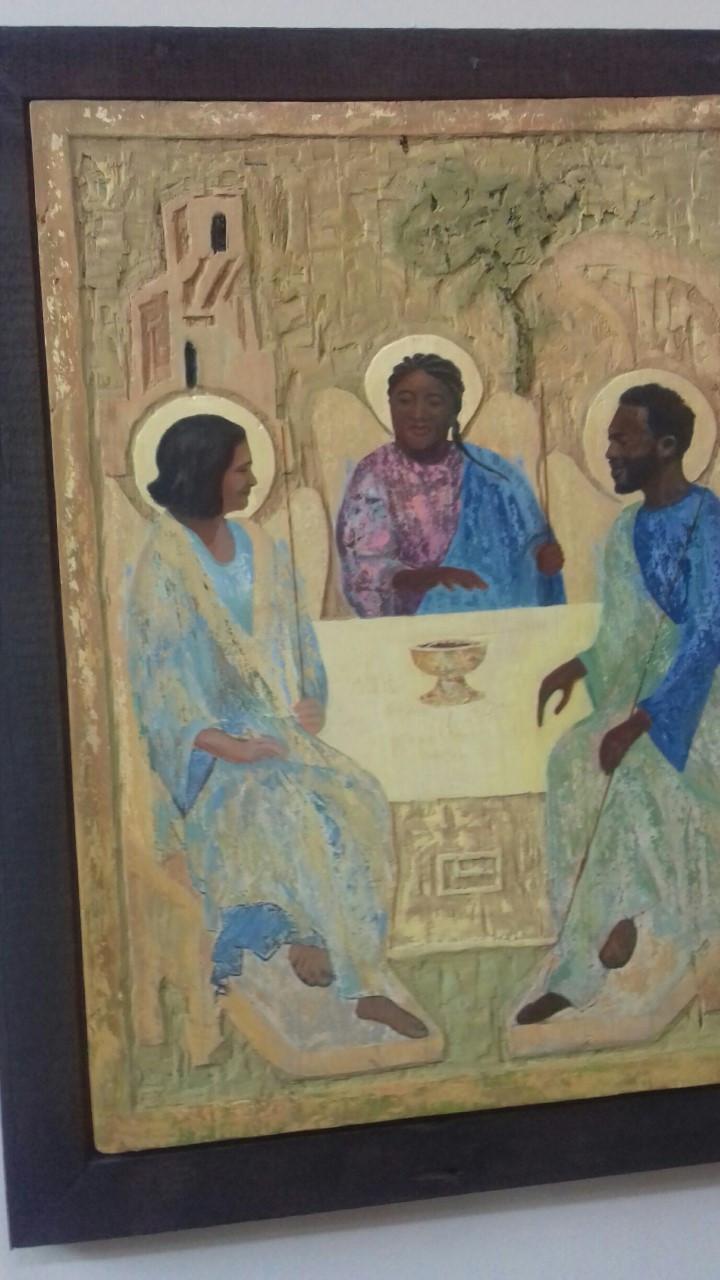 Icono de Rublev re-interpretado por la artista Meg Wroe