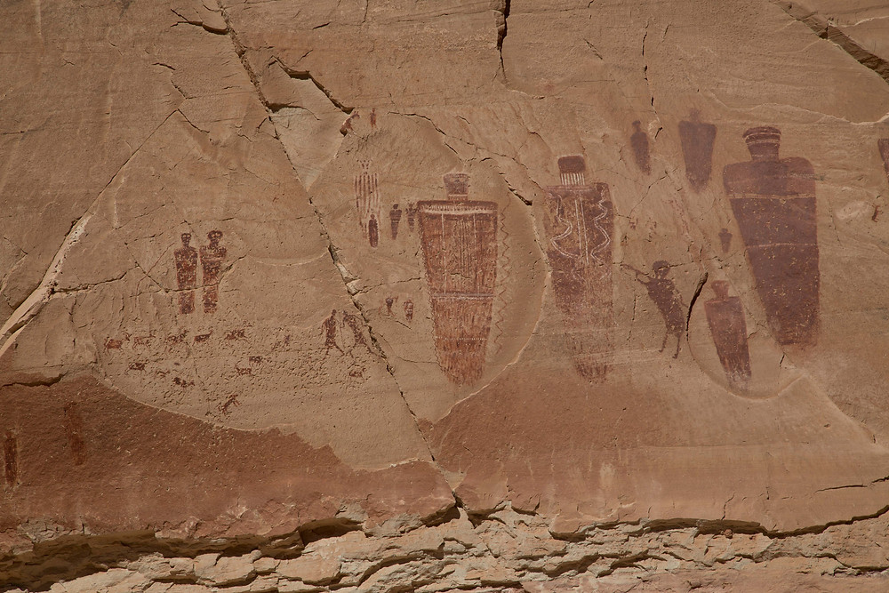 Another section of the Great Gallery in Horseshoe Canyon, Canyonlands National Park
