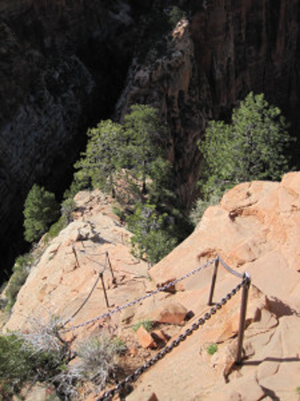 Fixed Chains near the top of Angels Landing