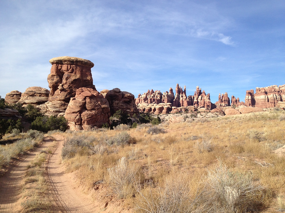 The 4x4 trails in the Needles District of Canyonlands are challenging and adventurous
