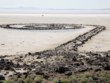 Spiral Jetty - Earthwork Art in Utah that Won't Disappear
