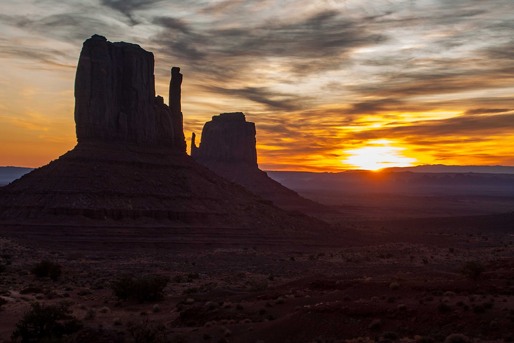 Mitten Butte is located in Monument Valley on the Utah Arizona boarder