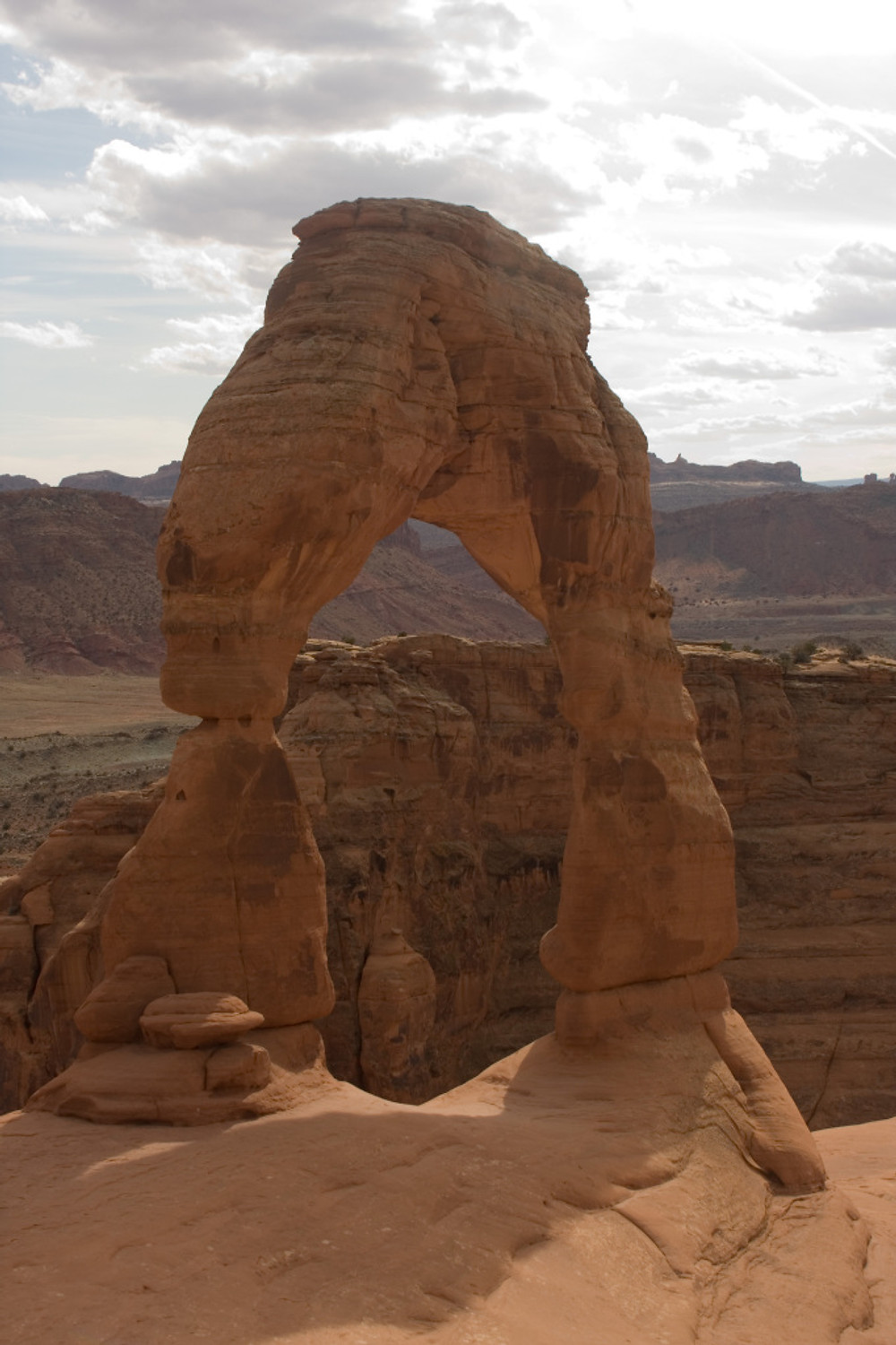 Delicate Arch in Arches National Park near Moab Utah