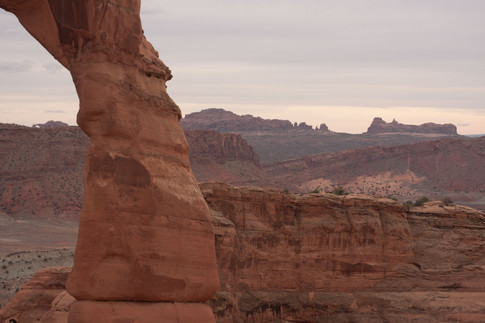 Delicate Arch with Balanced Rock in the Distance