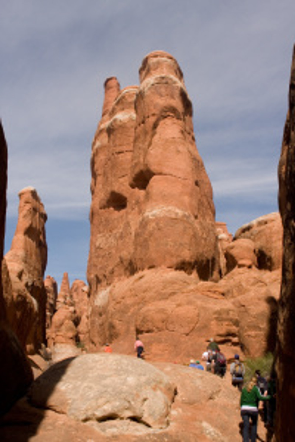 Ascending Sandstone Spires to the upper section of the Fiery Furnace